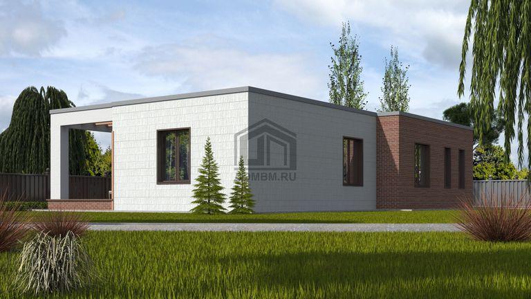 Проект дома в стиле хай тек 3