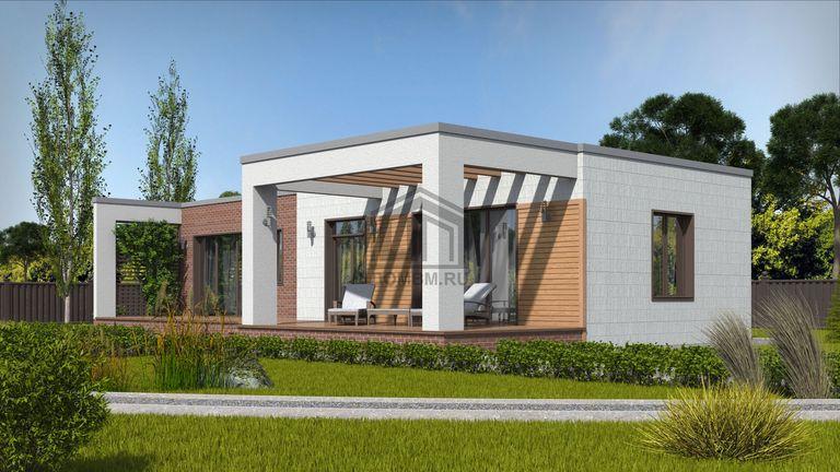 Проект дома в стиле хай тек 4