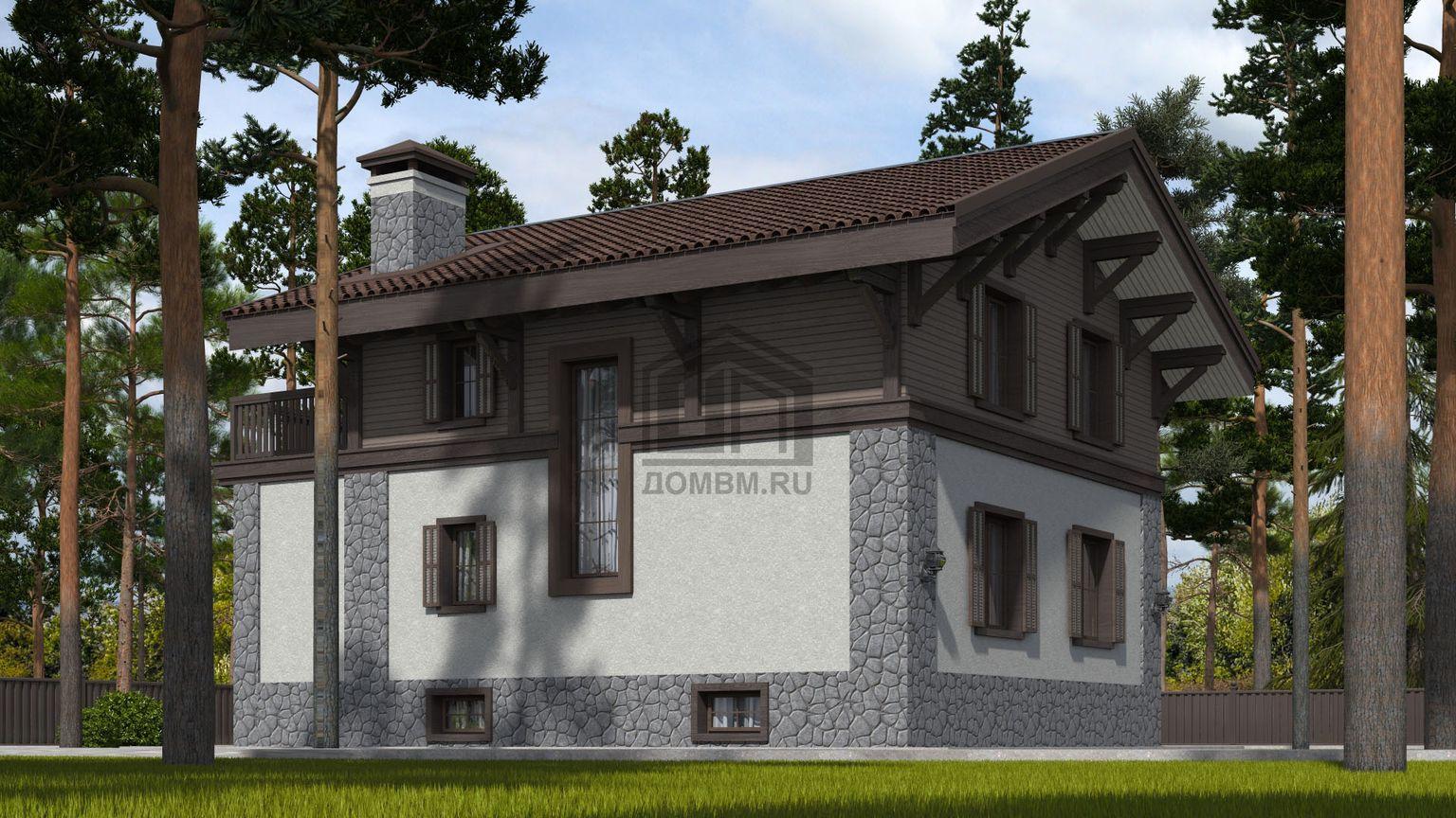 проект дома в стиле шале 1