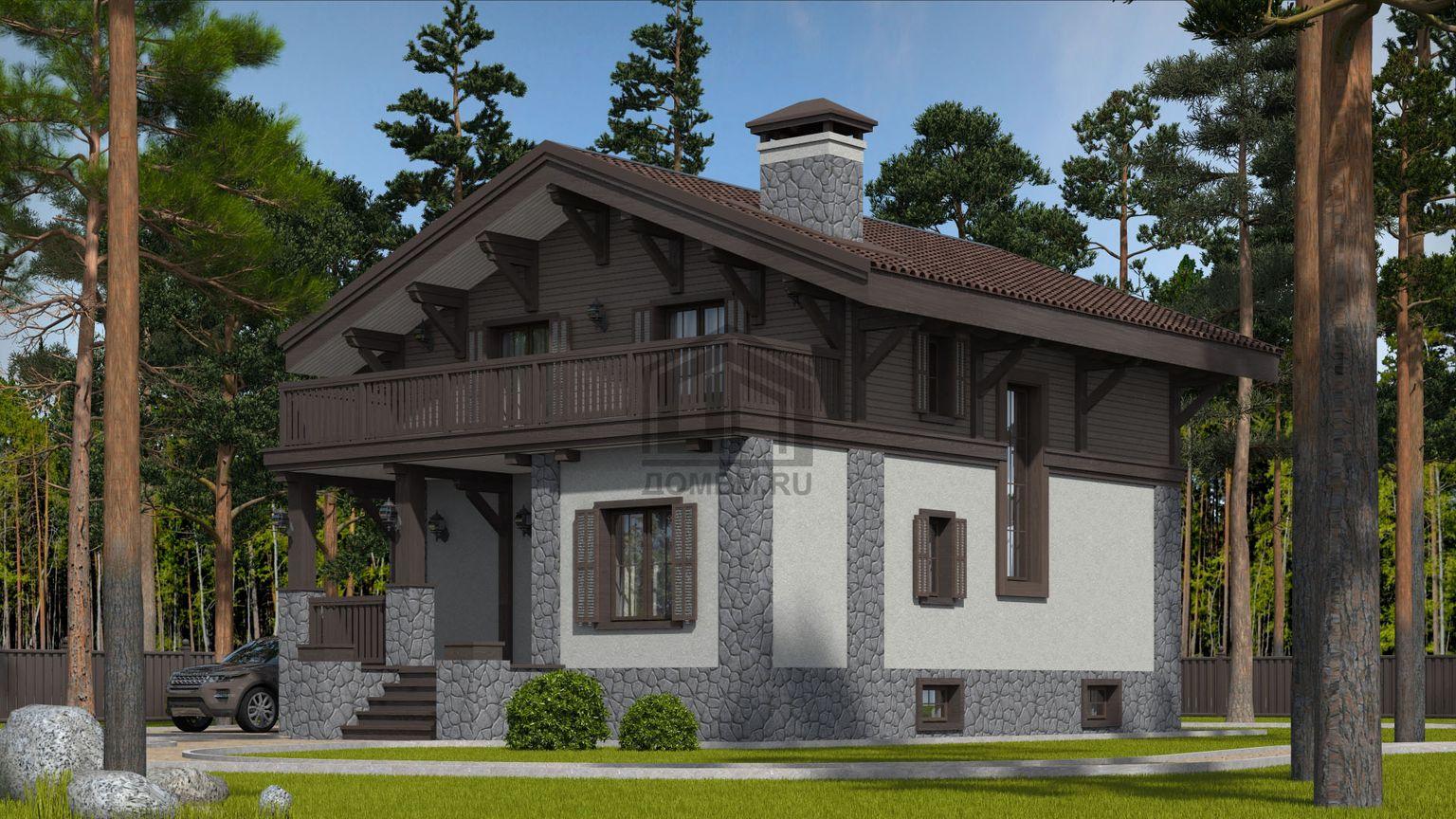 проект дома в стиле шале 2