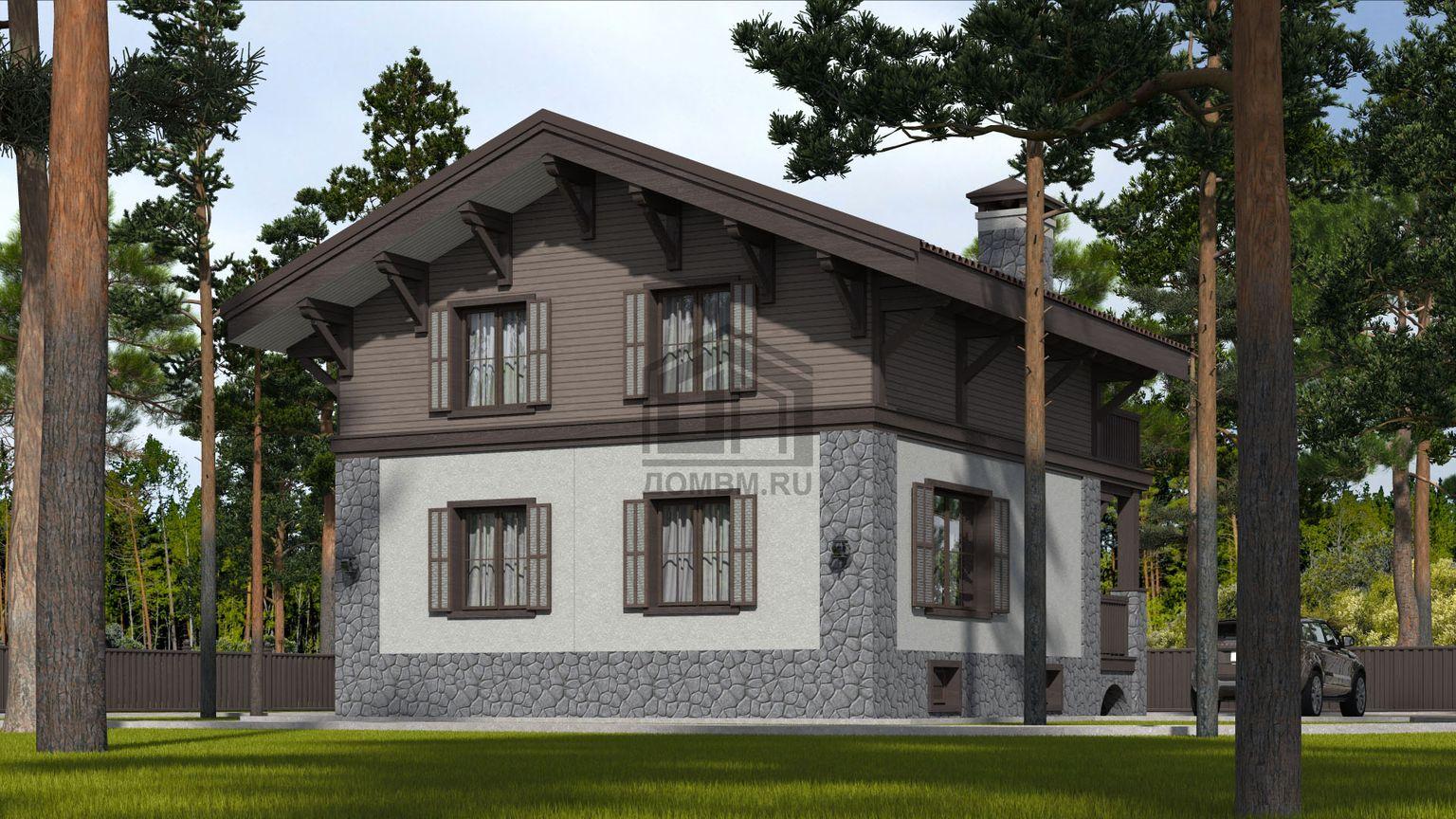 проект дома в стиле шале 3