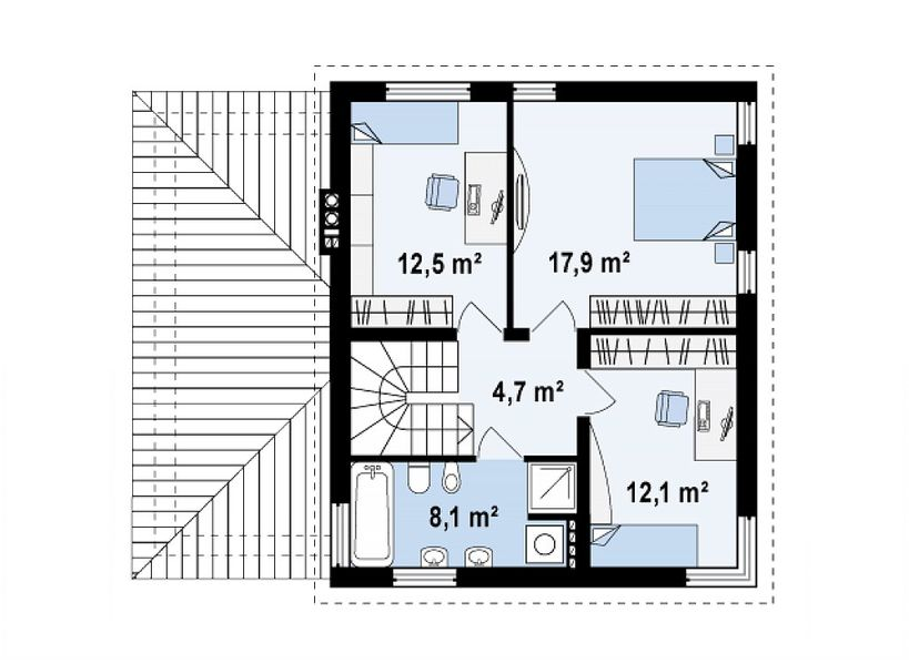 Проект европейского дома 3