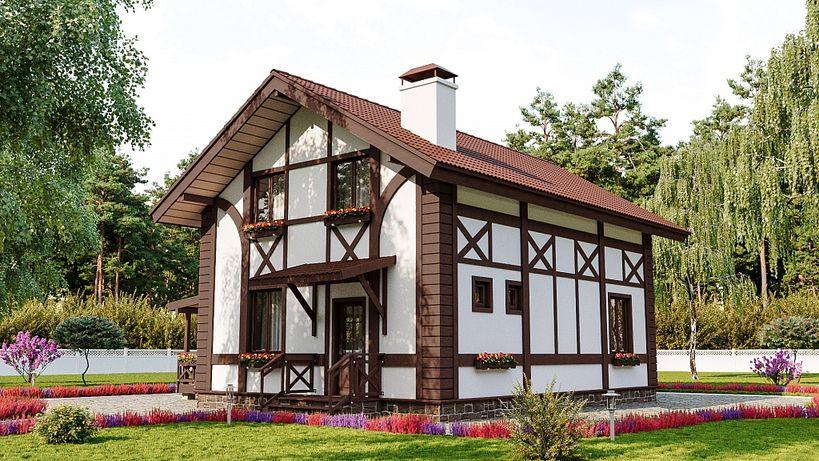 Проект дома в баварском стиле