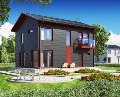 Проект двухэтажного деревянного дома