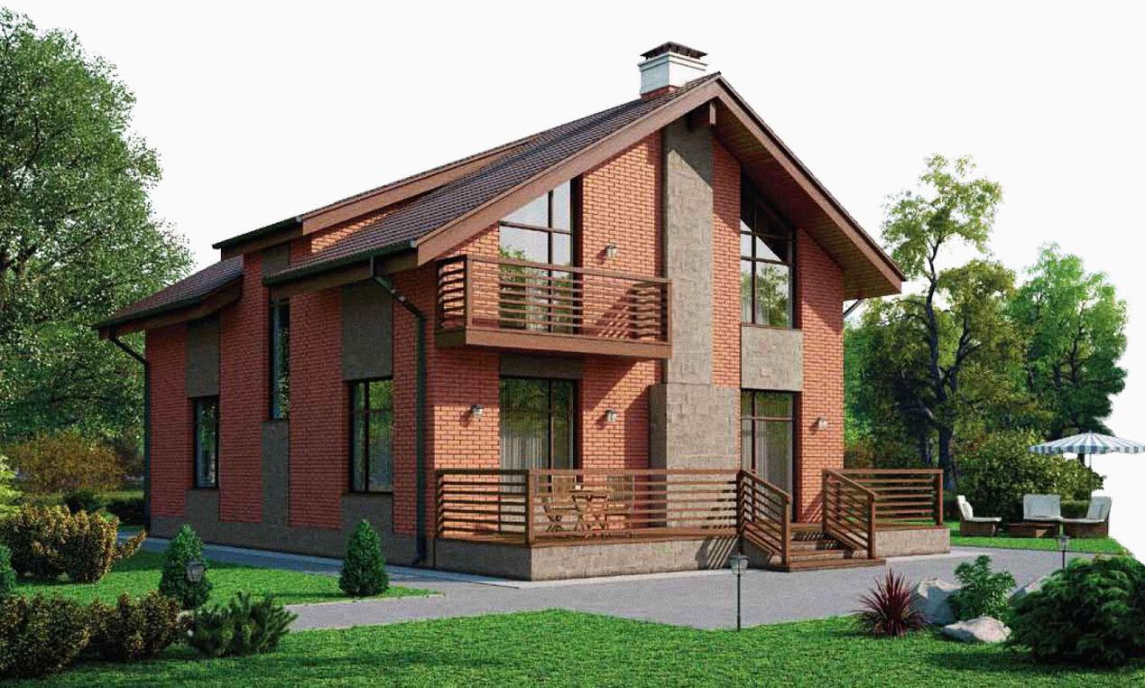проекты полутораэтажных домов из кирпича фото ассортиментом
