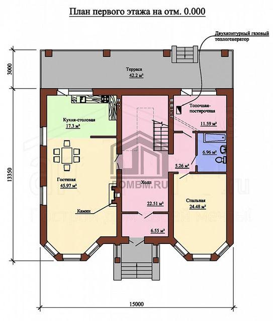 Индивидуальный проект дома план 1