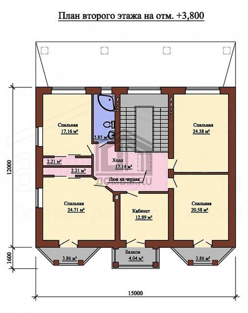 Индивидуальный проект дома план 2