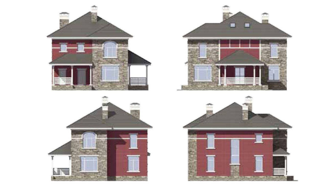 Проект дома из кирпича 1
