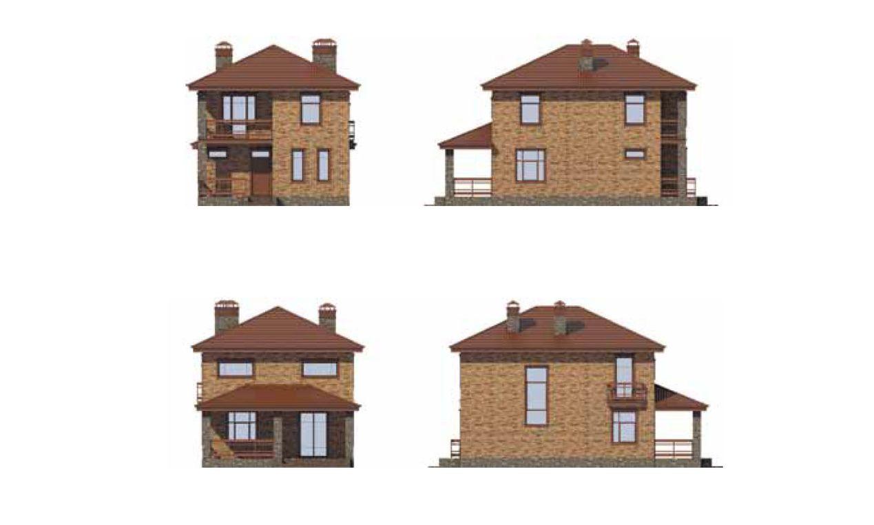 Проект двухэтажного дома 8 на 8 фасады