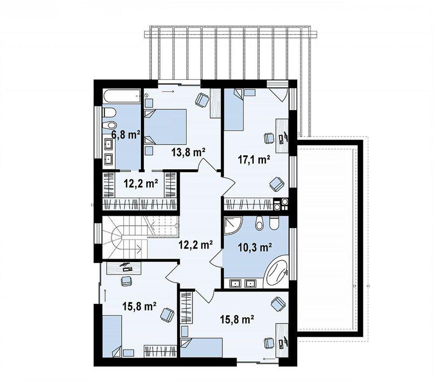 Проект дома с плоской крышей 5