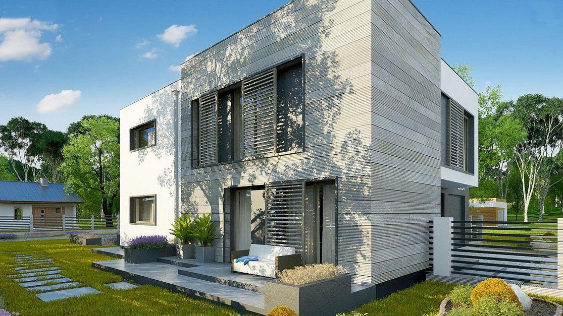 Проект дома с плоской крышей 1