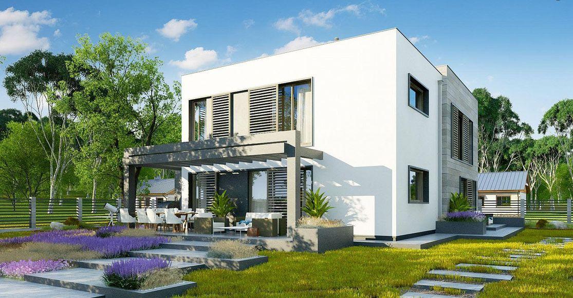 Проект дома с плоской крышей 2