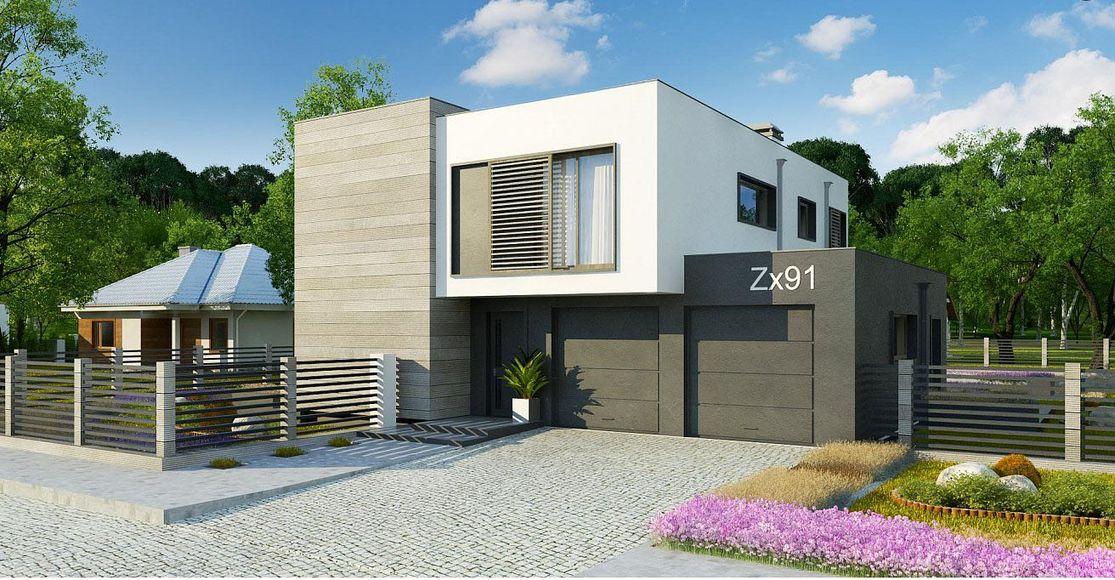 Проект дома с плоской крышей 3