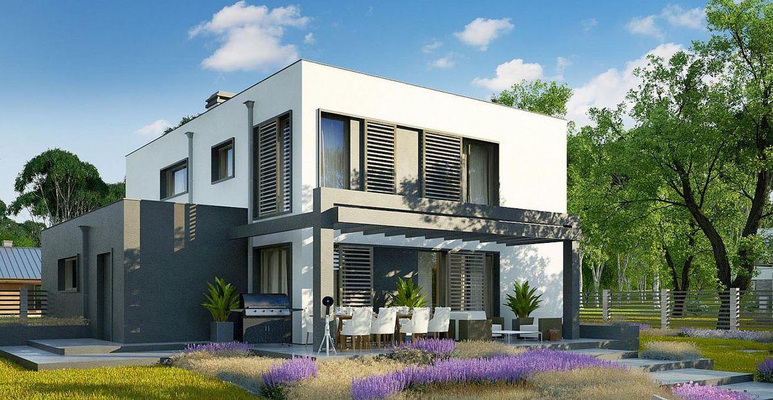 Проект дома с плоской крышей 4