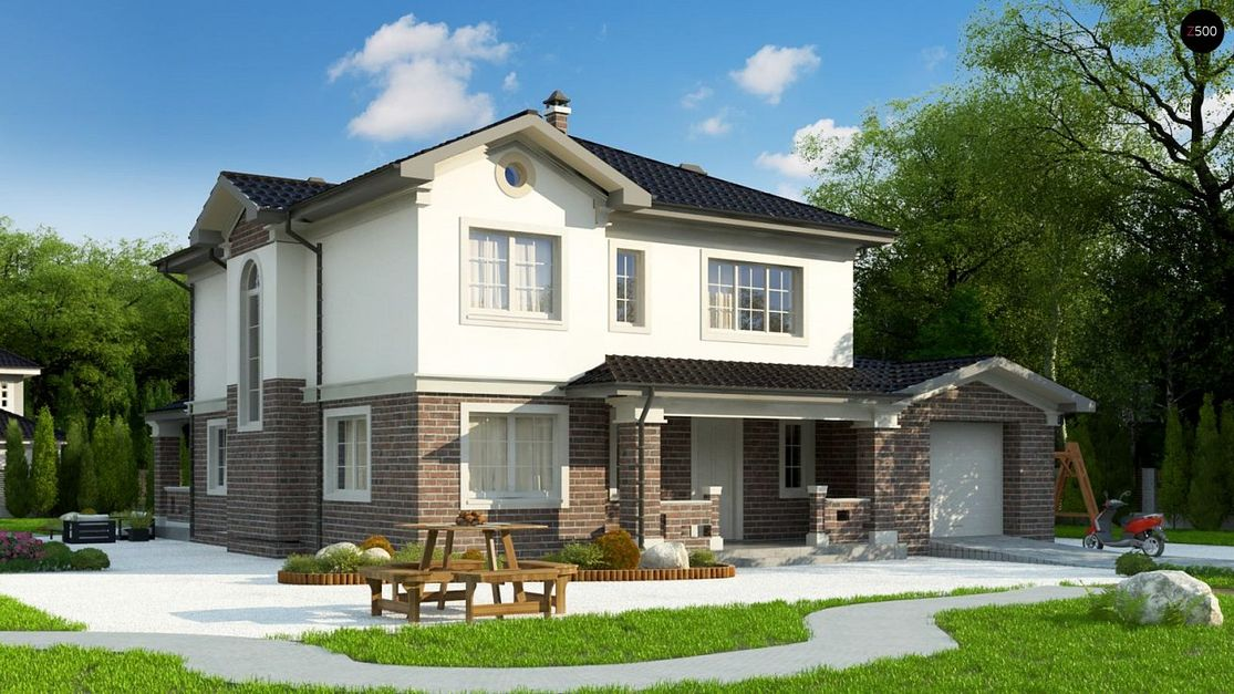 Проект дома в европейском стиле 1
