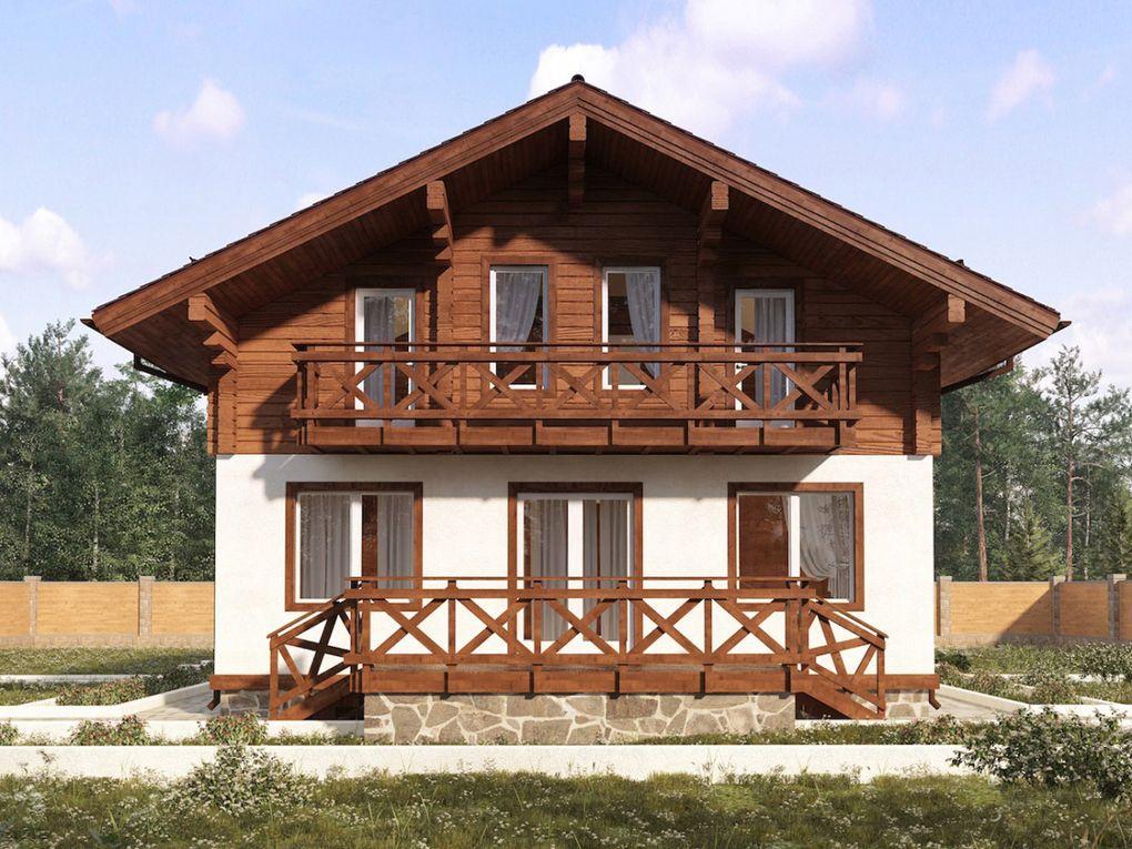Проект дома с балконом 1