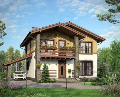 Проект дома шале с фото