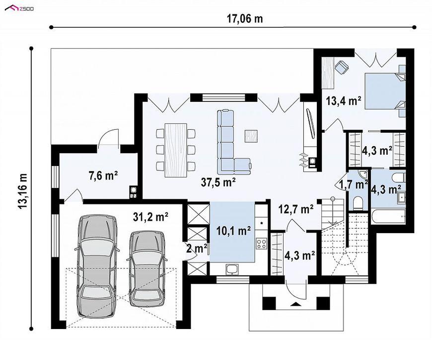 Проект дома в стиле минимализма 4