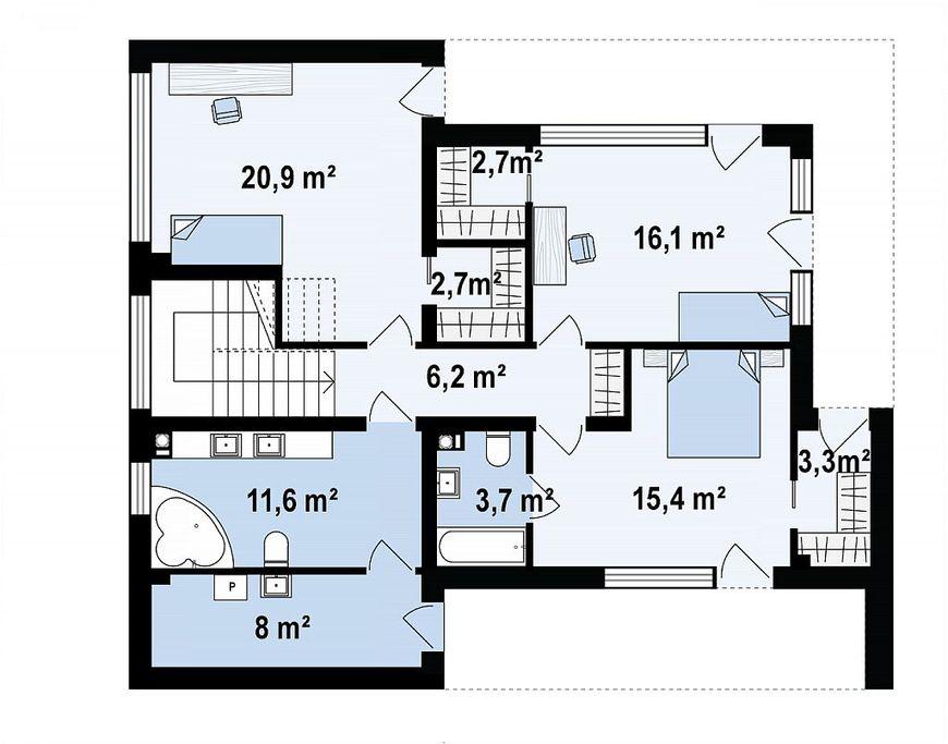 Проект дома хайтек 5