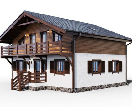 Проект комбинированного дома 3