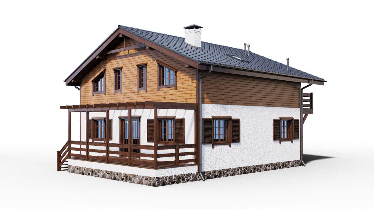 Проект комбинированного дома 1