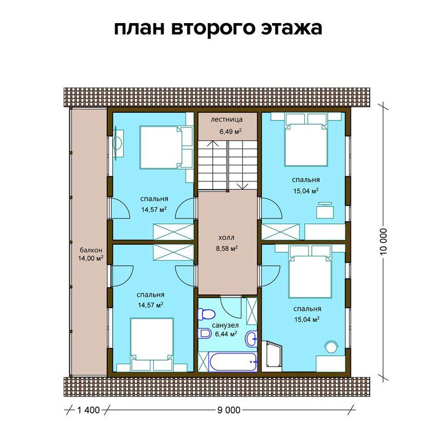 Проект комбинированного дома 5