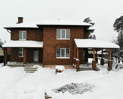 дом с облицовкой баварской кладкой